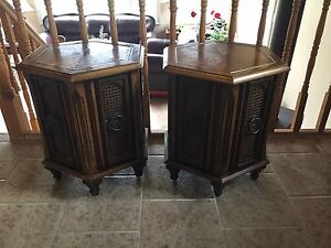 Vintage style octagon tables.