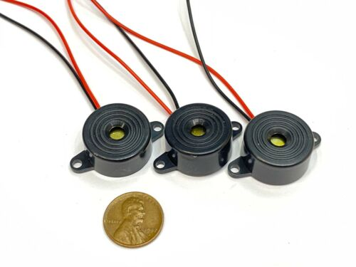 3 Piece Buzzer alarm active piezo 3v 5v 6v 12v 24v continuous sound dc 85DB C20
