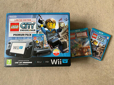 Lego city Nintendo Wii U Console (Black 32gb Version) & Lego Marvel Heroes game