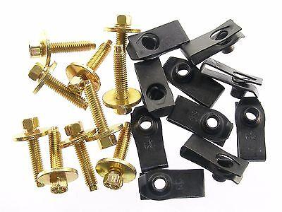 GM Body Bolts & U-nut Clips- M6-1.0 x 28mm Long- 8mm Hex- 20 pcs (10ea)- #139
