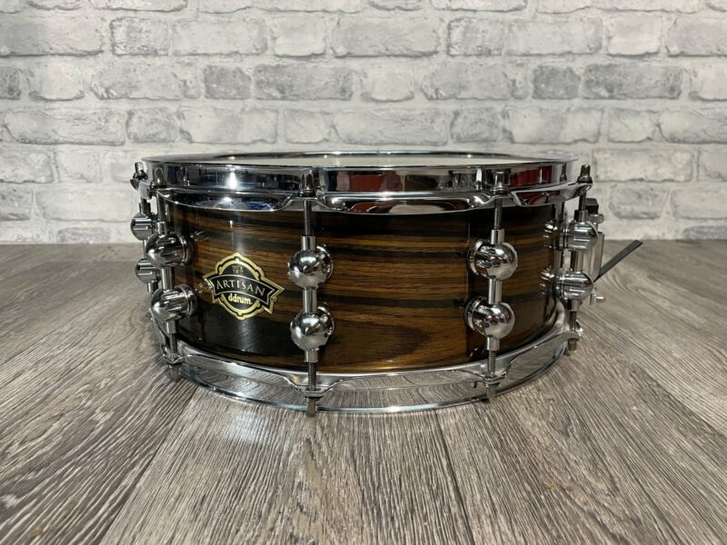 "DDrum Artisan 14"" x 5.5"" Wooden Shelled 10 Lug Snare Drum / Hardware #SN380"