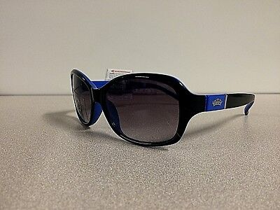 NWT Juicy Couture Womens Designer Sunglasses Square Eyewear Black/Blue Free Ship