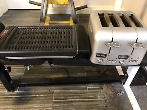 Delonghi toaster and Tfal indoor grill