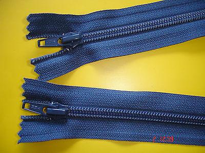 1 Reißverschluß ykk blau 70cm, 2-Wege-RV Kunststoffzähne Y5
