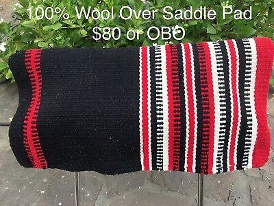 """30/""""X32/""""X3//8/"""" White Weaver 100 Polyester Felt Western Saddle Pad"""