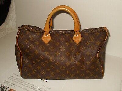 Louis Vuitton Hand Bag Speedy 35 M41524 Browns Monogram 1210252 Vintage