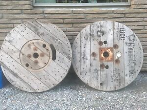 Wooden cable spools