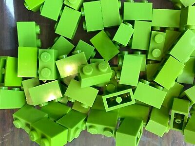 LEGO- BRAND NEW- #3004-1 x 2 -LIME GREEN-32 BRICKS