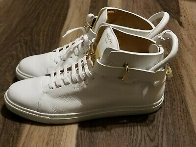 Buscemi Mens 100mm White Sneakers US 12 EU 45 New