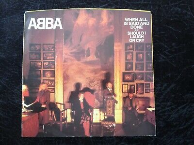 Abba - When All Is Said and Done USA Picture Sleeve ONLY NO DISC