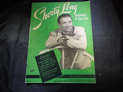 SHORTY LONG SONG FOLIO SHEET MUSIC BOOK.