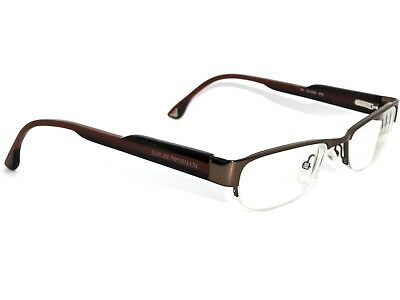 Emporio Armani Eyeglasses EA9315 PFE Brown Black Half Rim Frame Italy 50[]17 135
