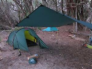 Hilleberg Anjan 2 tent in Green (used) with inc. footprint Seddon Maribyrnong Area Preview