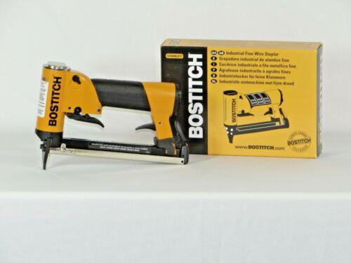"""Upholstery stapler, Bostitch 21697B air staple gun, 3/16"""" crown, & 1bx staples"""