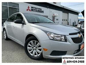 2011 Chevrolet Cruze LS; Local BC vehicle! LOW KMS!