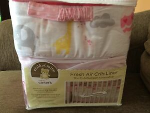 Crib liner/bumper pads all-in-one