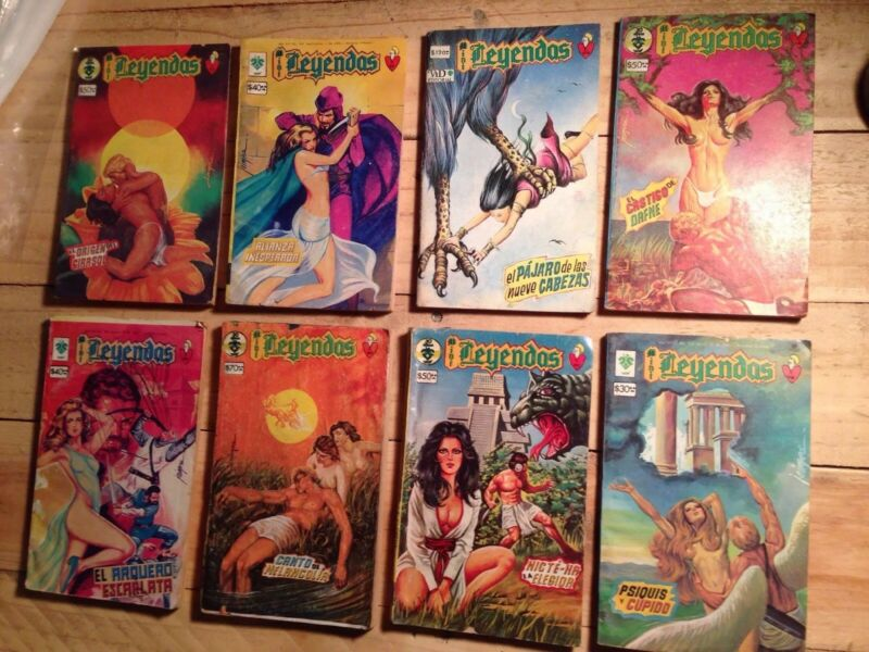 Mini Leyendas, Mexican Comic, Spanish (1985) Sephia, Lot Of 8
