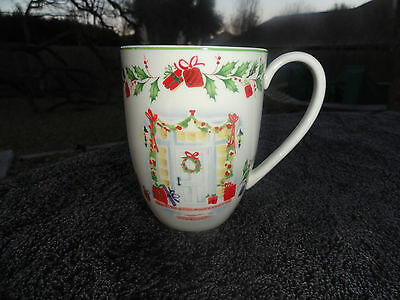 - Lenox Holiday Inspirations & Illustrations Front Door & Window Off White Mug