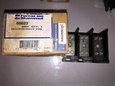 Ferraz Shawmut 66023 PDB 3-Pole 600V Power Distribution Block  Ferraz Shawmut Power Distribution Blocks