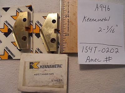 3 New Kennametal 2-116 Allied Spade Drill Insert Ta. Super Cobalt. Amec A946