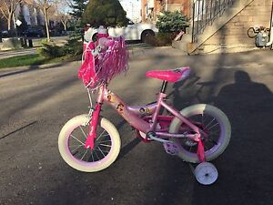"Disney Princess 14"" bicycle with training wheels"
