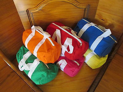 6 Small Colorful DUFFLE BAGS cute FREE SHIP party supplies favors