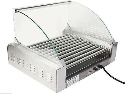 Large Hot Dog Grill Cooker Taquitos Electric Warmer Roller Commercial Park Grade