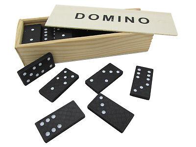 Domino Steine in Holzbox SET Gesellschaftsspiel Legespiel Giveaway Spielzeug (Holz Domino Set)