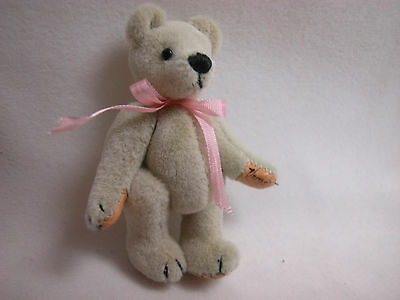 "World Of Miniature Bears Dollhouse Miniature 2.5"" Plush Bear #310 Beige"