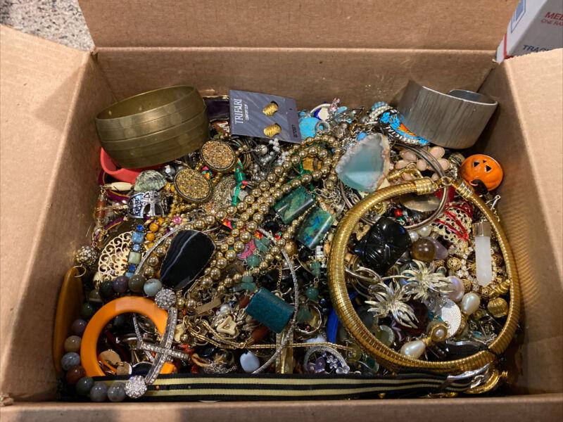 16 LB Pound Junk Jewelry Lot