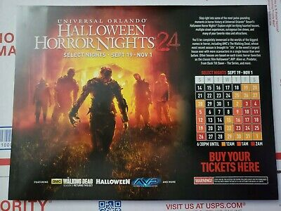 Universal Orlando Halloween Horror Nights 2014 HHN24 Event Map Walking Dead