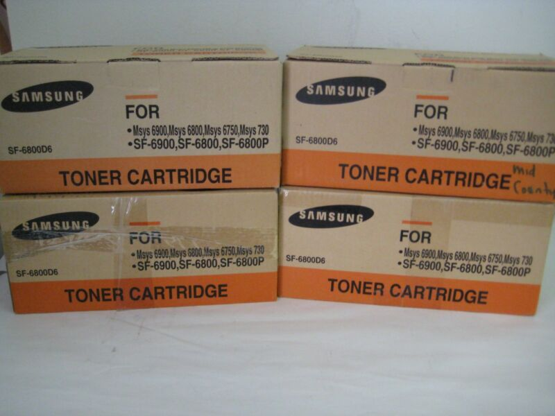 Lot of 4 Samsung SF-6800D6 Toner Cartridge For Msys6900, Msys6800, Msys6750
