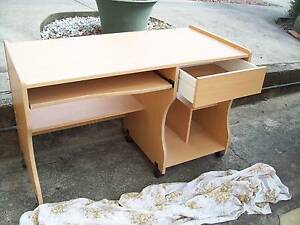 Ideal Student computer desk on castors, draw conpartments etc Moonah Glenorchy Area Preview