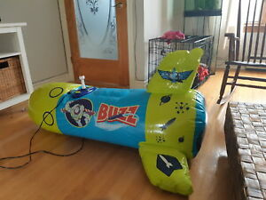 Buzz lightyear inflatable rocket video game