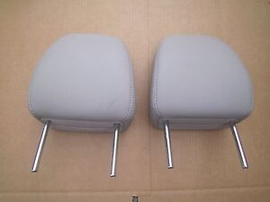 2015 2016 2017  Toyota Sienna GRAY Leather Headrest second row PAIR OF 2