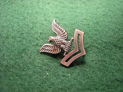 Vintage U.S.Military WW ll Silver Eagle & Wings Pin Vanguard V-21-N  Made in USA