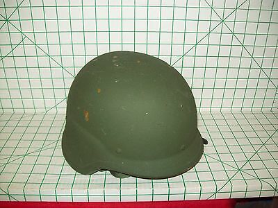 US ARMY PASGT COMBAT HELMET SHELL W/ STRAPS OD SIZE MEDIUM
