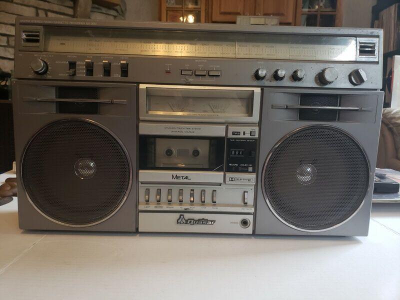 VINTAGE QUASAR GX-3661 AM/FM STEREO RADIO CASSETTE RECORDER BOOMBOX READ DESC