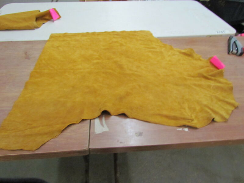 "MOOSE HIDE NATIVE AMERICAN DARK COMMERCIAL TANNED HIDE SOFT 33"" X 38"""