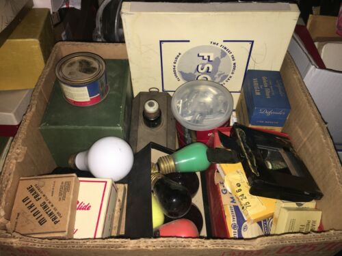 Vintage Large Lot Photography Film Equipment Dark Room Lots Of C«»«»l Stuff