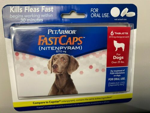 PetArmor FastCaps Oral Flea Treatment for Dogs Over 25 Lbs - 6 Tablets