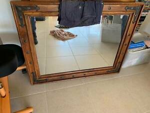 Mirror – Wood and Wrought Iron