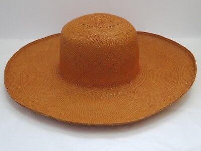 NEW LORO PIANA $900 Cappello Joannesburg straw wide brim sun hat women's size L