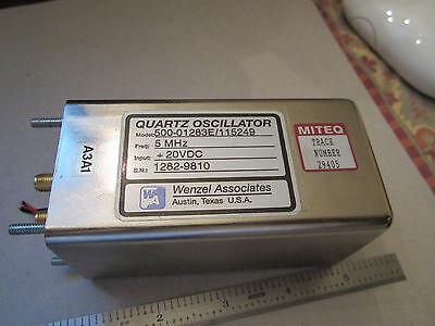 Wenzel 5 Mhz Quartz Oscillator Frequency Standard Binred