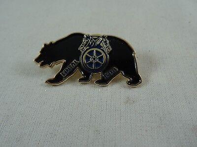 """Rotary Local 890 Black Bear Double Horse Head Enamel  Pin 1.5"""""""
