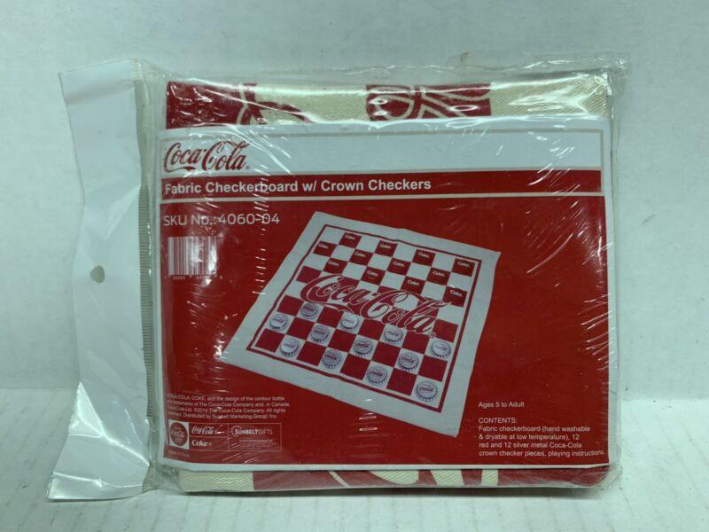 Coca Cola Fabric Checkerboard W/ Crown Checkers, New Sealed -G86