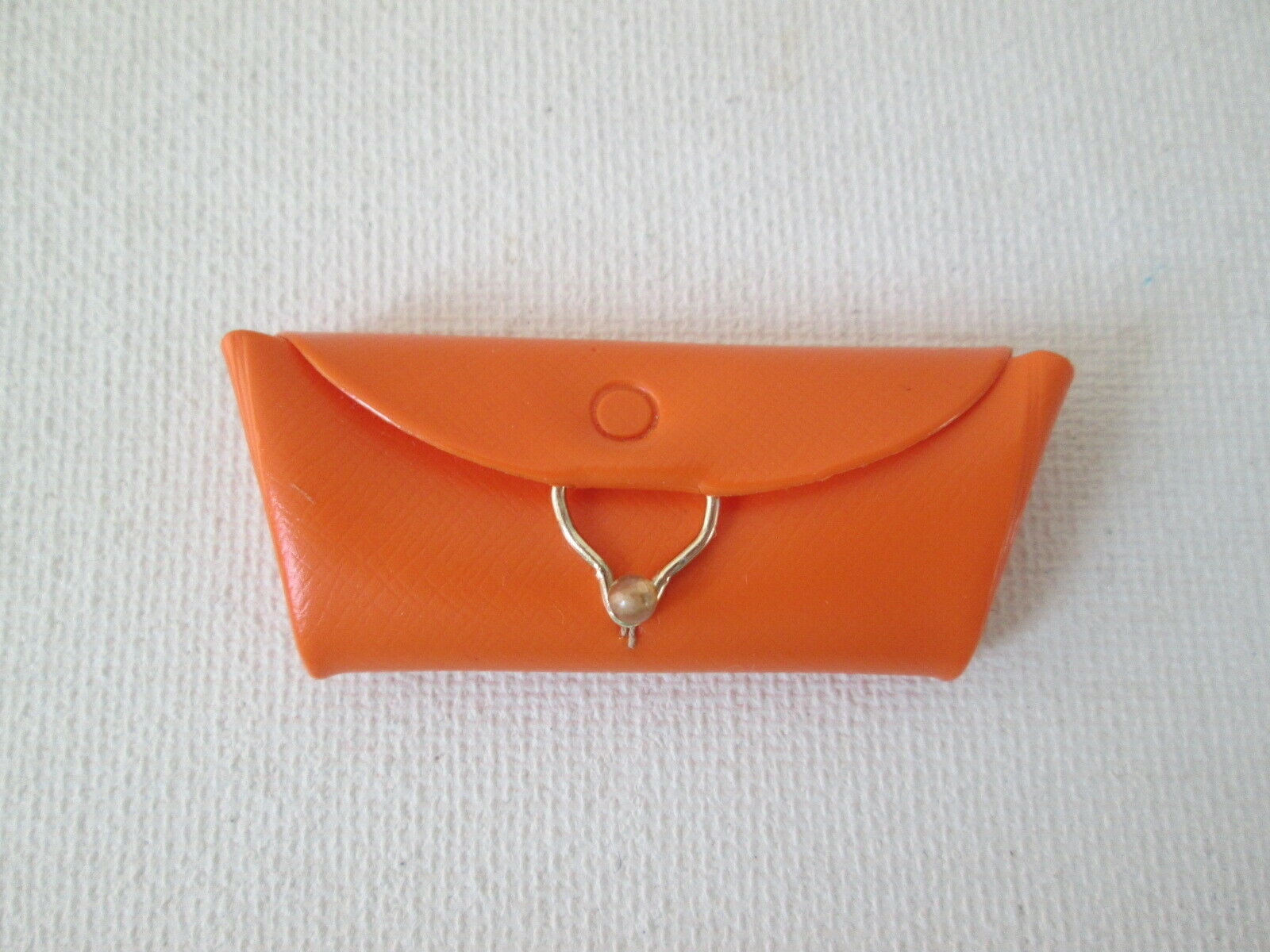 Vintage Barbie 1603 Country Fair Orange Vinyl Clutch Purse - $5.50