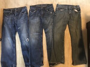 Old navy and American eagle jeans.