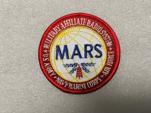 MILITARY AFFILIATE RADIO SYSTEM (MARS) PATCH MEASURES 3 INCHES DIAMETER