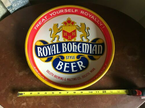 Vintage Original Royal Bohemian Beer Tray Duluth Minnesota MN Fitgers Can